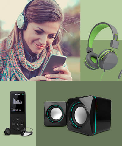 online shopping of audio and electronic products