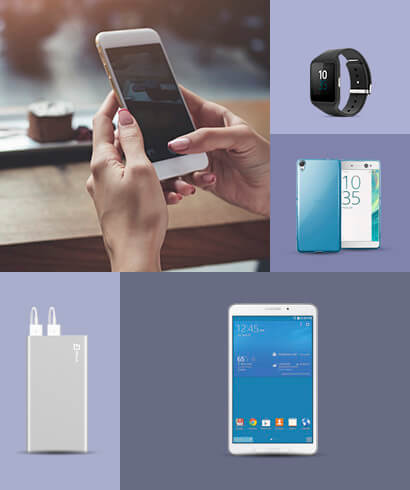 electronic phones, mobiles, tablets and accessories